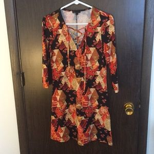 Patterned Fall Dress